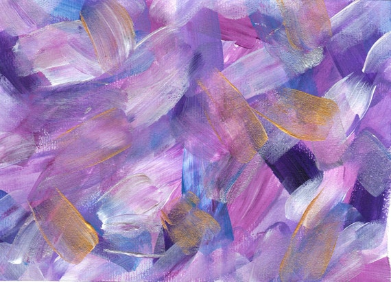 """Aid for Abby - Original Painting by Child with Multiple Disabilities - 5"""" x 7"""""""