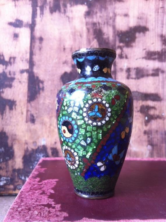 Vintage Asian Cloisonne Vase