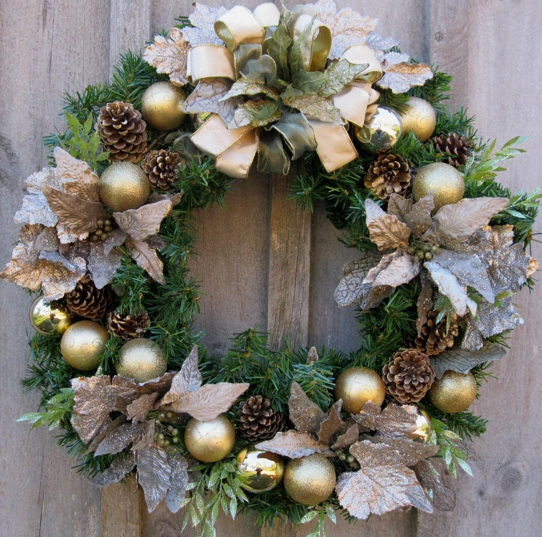 christmas door wreath lights