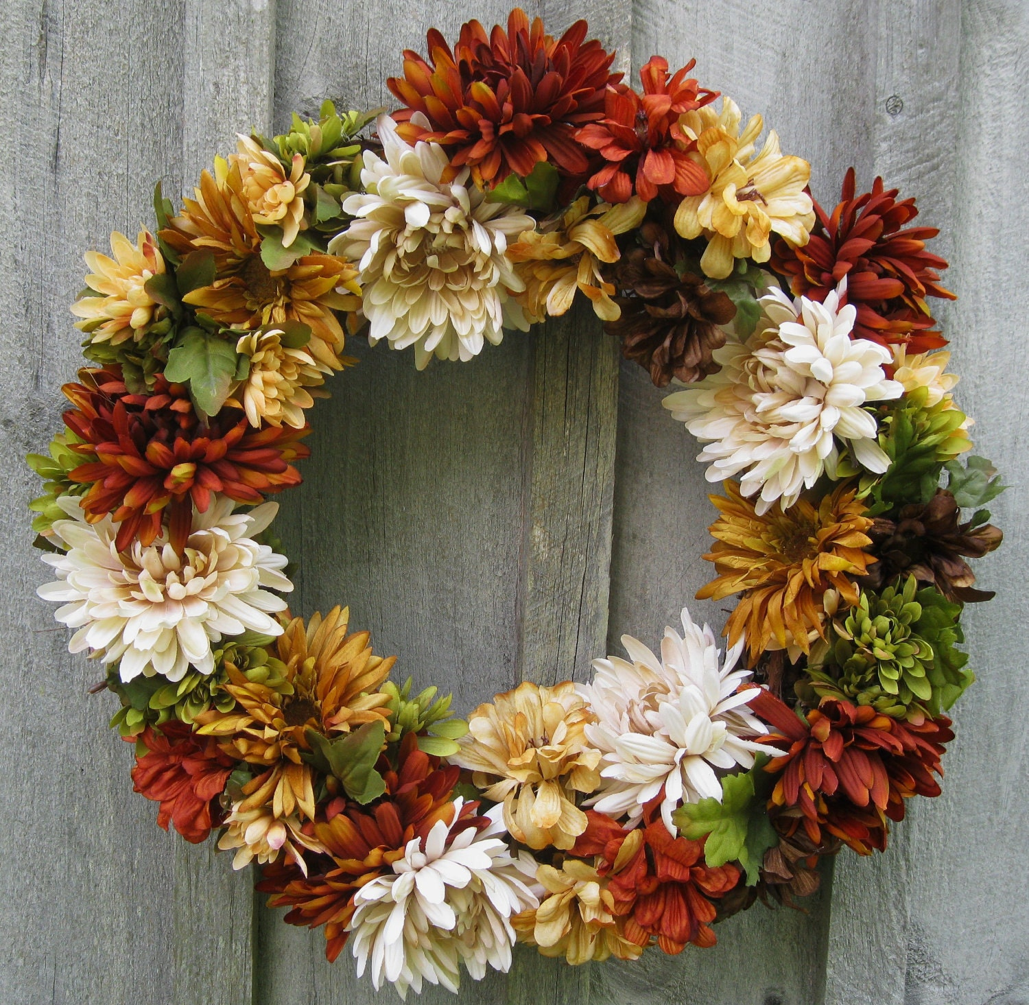 Sale Fall Wreaths Chrysanthemum Autumn Floral Wreath