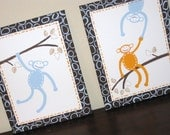 Monkey See Monkey Do, 11x14 (set of 2) MADE TO ORDER