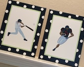 Sports Fan, 11x14 (set of 2) MADE TO ORDER
