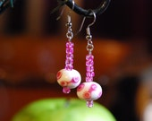 Pink Polka-dot Drops: Reserved for Baubles4knitwits