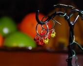 Fiery Hoop-on-Hoop Earrings