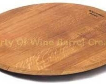 Oak Wine Barrel Head Cutting Board or Stationary Tray From a Napa Valley Winery