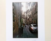 Via Dei Neri Glows - (signed & mounted)