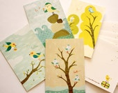 Set of Four 4x6 Notecards With Envelopes