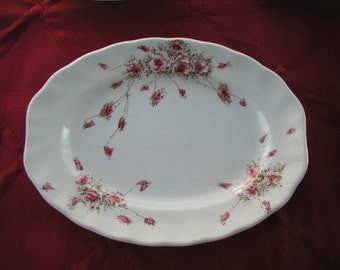Antique English Transferware Oval Plate Royal DoultoMay Pattern 1875