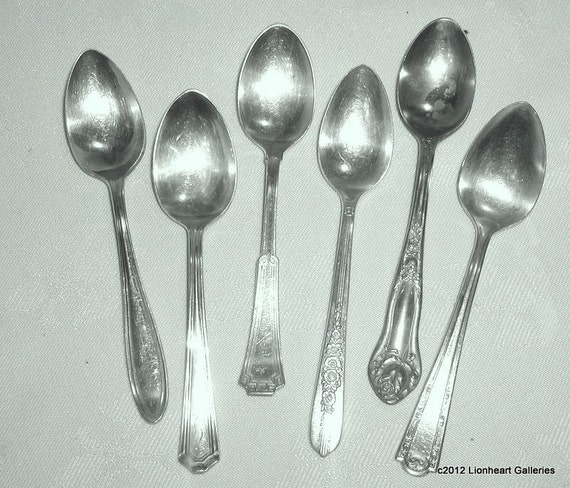 Vintage Silverplate Demitasse Spoons Six Patterns