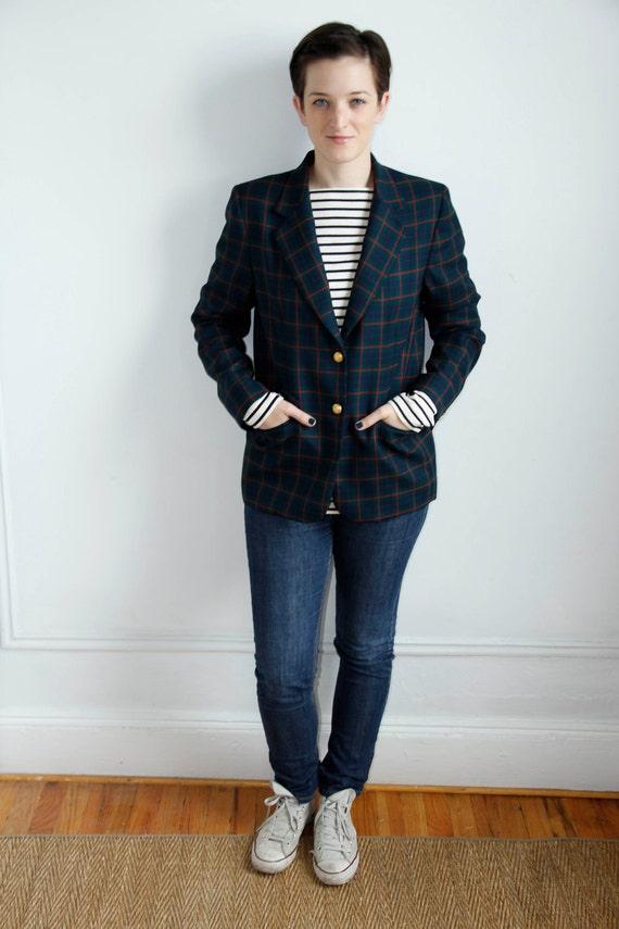 Vintage Pendleton Plaid Wool Blazer - M / L