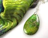 beautiful green variscite gemstone necklace