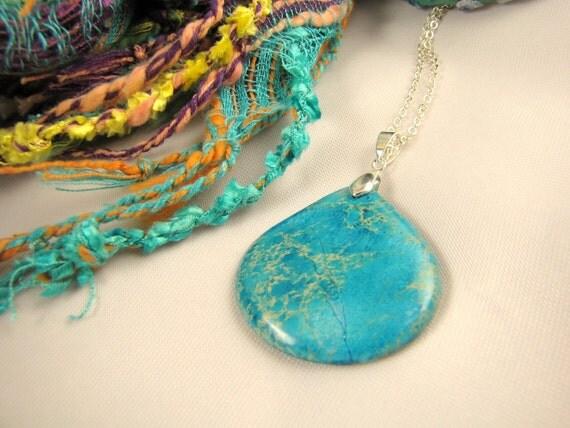 turquoise blue gemstone necklace