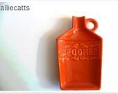 Orange Ceramic Spoon Rest