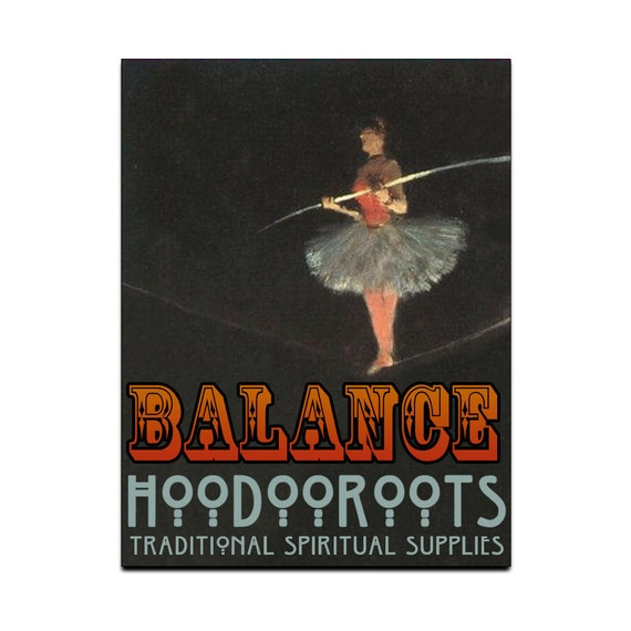 Balance Spiritual Oil - Manage Stress with Graceful, Sure-Footed Good Humor - Organic Magical Bath Body & More