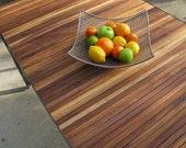walnut slat dining table industrial modern desk