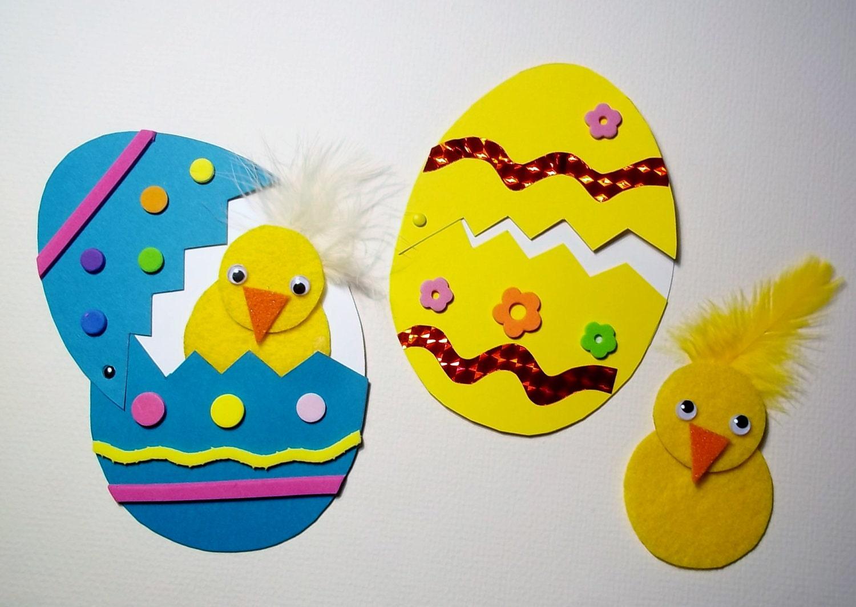 Easter egg n chick 2 craft kit by kazsmom on etsy for Easter craft for preschool