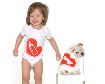 Milk Bone - Baby Bodysuit and Dog T