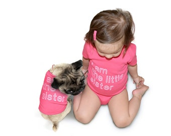 Big Little Sister/Brother - Baby Bodysuit and Dog T