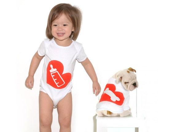 Milk Bone - Baby Bodysuit and Dog T