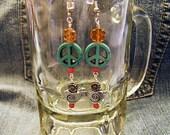 Peaceful Lobes No.3- Hippie Peace Earrings  ET-HPE-PF-E3