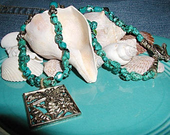 Day Dreaming at the Beach Turquoise Necklace ET-DDB-NT