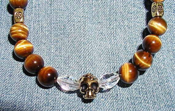 The Tigress- Tiger's Eye Crystal Necklace Set ET-SOA-T-S