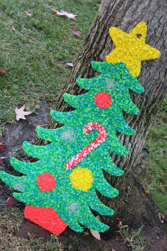 Christmas Tree Christmas Popcorn Plastic Chip Wall Hanging