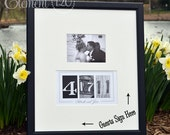 Custom Wedding Guest Book Date Frame - Add your own photo after the wedding for a unique Wedding Guest Book decoration