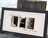 Personalized Alphabet Letter Photography Wedding Gift, Anniversary Gift, Personalized Name Framed 10x20 Modern