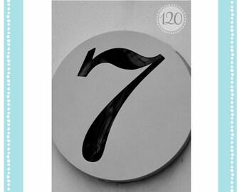 4x6 Number 07 & 7 Individual Print