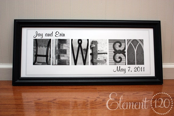Wedding Gift Alphabet Art : Personalized Wedding Gift Alphabet Art, Surname Photography : Classic ...