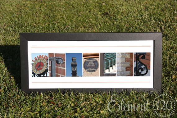"Baltimore Orioles Alphabet Photo Art Print - Frame on your own 10""x20"""