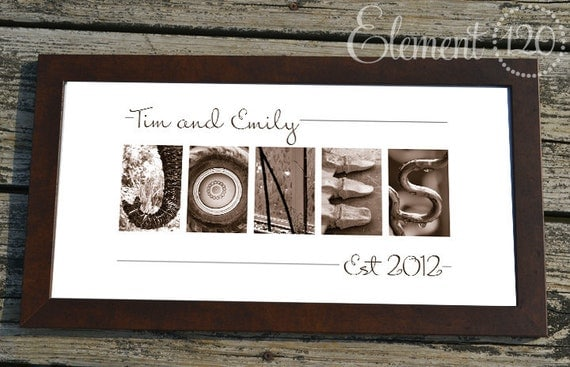 Wedding Gift Alphabet Art : Wedding Gift for Couples, Found Art Gift, Alphabet Photography Letter ...
