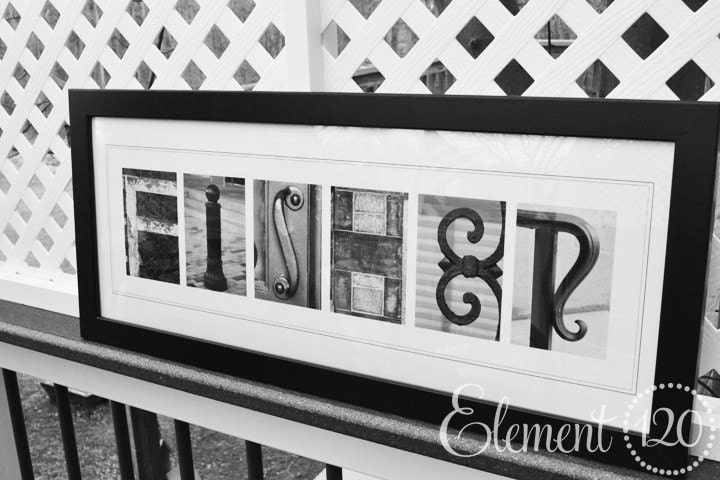 letter alphabet photography last name modern 10x26 frame With frames for letter photography