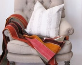 Large Plume Stripe Pillow in Bleached Linen