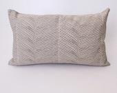 Herringbone Boudoir Pillow-Ivory