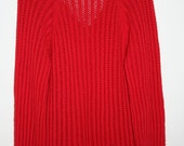 Red Vintage Sweater Dress