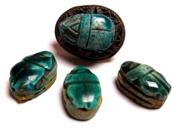 Vintage Ceramic Egyptian Scarab Beetle