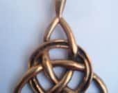TRAINGLE KNOT Celtic Brass Pendant codeB37