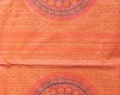 Flaming orange fabric
