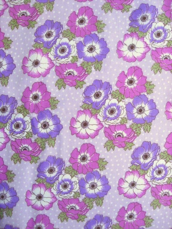 Vintage floral fabric FQ
