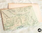 Vintage continental map envelopes (set of 6)