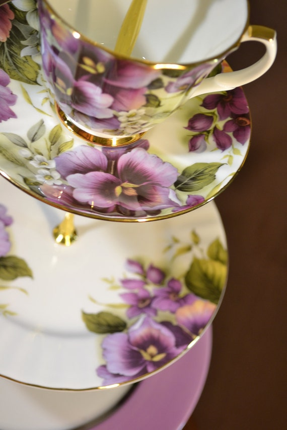 Custom Drilling for your Vintage China - Cake Tea Stand