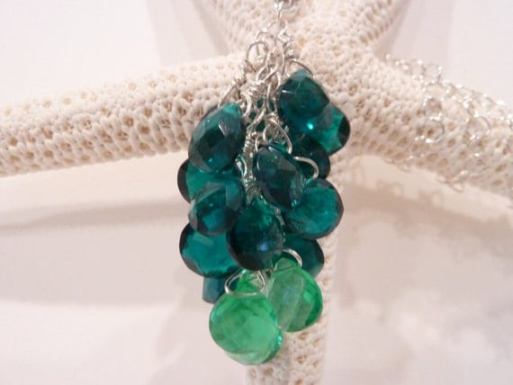 Cluster necklace: The Peacock's Tail Necklace
