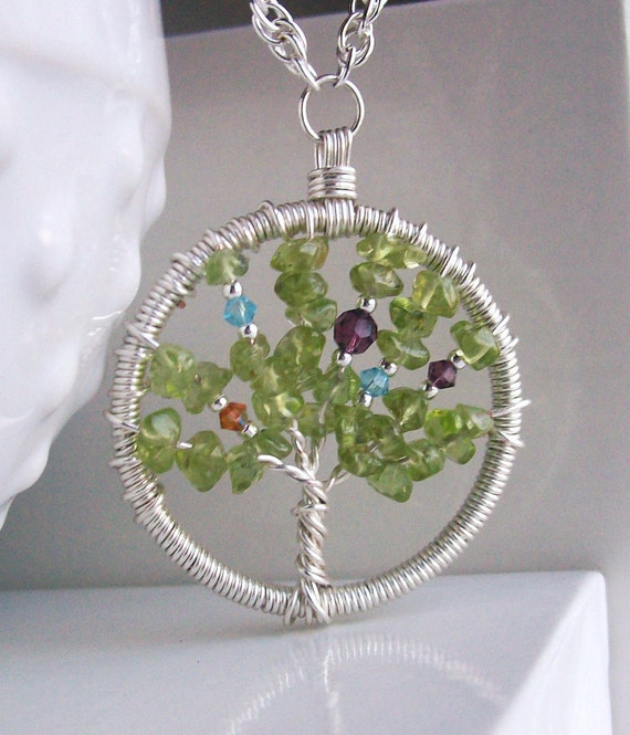 Birthstone Family Tree -Necklace-Keychain-Brooch