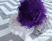 K-State Shabby Flower Headband.  Customize with ANY sports team colors.  Football.  Baseball. Team Pride.