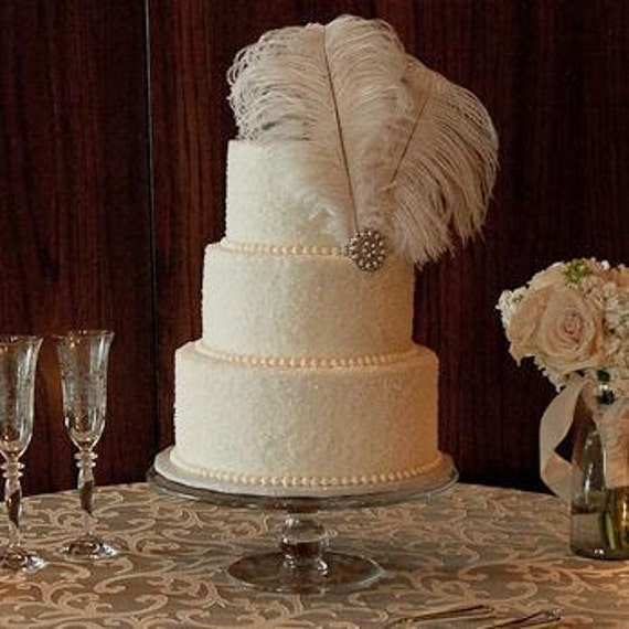 hollywood glam wedding cake topper items similar to ostrich feather cake topper antique 15270
