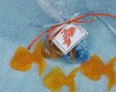 Beach or Carnival  Theme Gold Fish Organic Glycerin Vegan Soap Party Favor