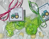 Farm Theme Little Green Tractor Organic Glycerin Vegan Soap Favor