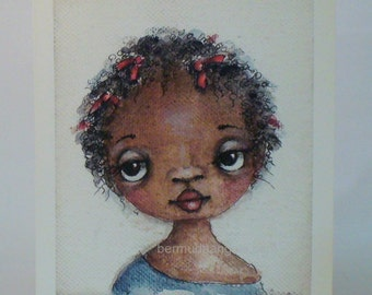 Black  African girl print , Wall art , black girl print , black child print , decor .